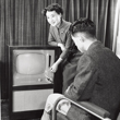 photo: The first Mitsubishi Electric television (Model 101K-17), launched in 1953.